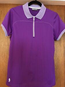 Glenmuir ladies purple  golf Polo shirt 12