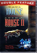 HOUSE I & II (1986/1987) CLASSIC 80'S HORROR DOUBLE NEW AND SEALED DVD R1