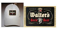 WALTER'S BOCK BLACK LABEL BEER BALL CAP