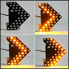 1Pc Car Rearview Mirror Hidden Arrow Panel 33-SMD Amber LED Turn Signal Lights