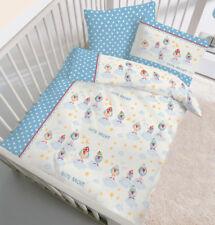 Baby Bettwäsche 100x135  cm Gute Nacht Spatzen 27797 blau BIBER B Ware