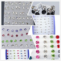 Set 48 PCS Silber Ohrstecker Ohrring Ohrschmuck Ear Stud Earrings Modeschmuck !!