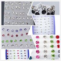 Set 48 PCS Silber Ohrstecker Ohrring Ohrschmuck Ear Stud Earrings Modeschmuck !!