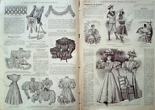 LA MODE ILLUSTREE-1896-23-avec PATRONS-VOIR MODELES DETAILLES