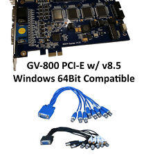 Geovision Surveillance GV 800 GV-800 DVR Capture Card PCI-E v8.5 16CH 32CH Ready