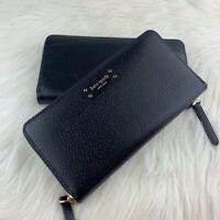 BNWT Kate Spade  Jeanne Black Large Continental Zip Leather Wallet