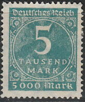 Stamp Germany Reich Mi 274 Sc 238A 1923 Inflation Number Circle Empire MNH