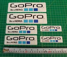 6x Gopro Hero 2 3+ White STICKERS Go Pro Accessories Car Moto Decals waterproof