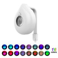 16 Colores Baño Aseo Cambiante LED Luz de noche sensor de movimiento activada Asiento