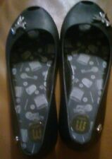 Melissa Tinkerbell Disney Black  Jelly Flats Shoes Sz 3