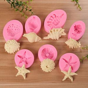 DIY Silicone Sea Shell Cake Mold Fondant Sugarcraft Mould Baking Decorating Tool