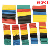 580Pcs Heat Shrink Tubing Insulation Shrinkable Tube 2:1 Wire Cable Sleeve XUAN