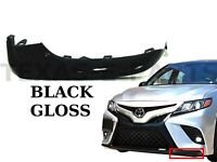 New Fits 2018 2019 2020 Toyota Camry Left Front Bumper Lower Trim Black Gloss LF