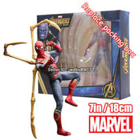 SpiderMan Marvel Avengers Legends Comic Heroes 7in Action Figure kids Toy In Box