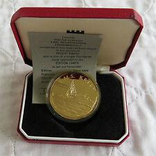 HMS Kelly Montgomery 1979 Hallmarked oro su argento Proof crownmedal-boxed/COA