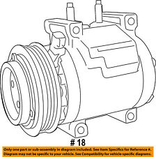 CHRYSLER OEM-A/c Compressor 68294506AC