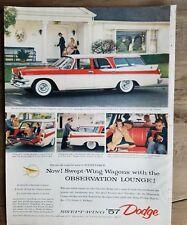 1957 Dodge Rosso e Bianco Personalizzato Sierra Four-Door Lussuosa Limousine