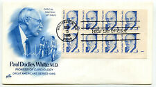 2170 3c Paul Dudley White, MD, ArtCraft, plate block , FDC