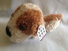 "New Shih Tzu The Dog Artist Collection Plush Toy Stuffed Animal White Brown 15"""