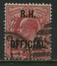 KEVII 1902 Royal Household 1d Official used