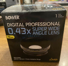 BOWER 0.43x SUPER Wide Angle LENS 72mm to Camera Camcorder Video CANON NIKON