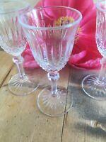 3 x Rare vintage sherry port glasses rare design weddings gifts display