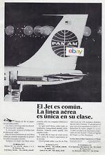 PAN AM 1966 BOEING 707 JET NIGHT LA LINEA AEREA ES UNICA EN SU CLASE MEXICO AD