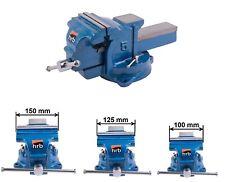 Schwerer HRB Schraubstock wahlweise 120, 155, 160 mm Spannweite für Werkbank