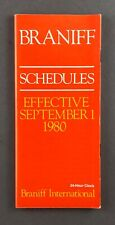 BRANIFF INTERNATIONAL AIRLINE TIMETABLE SUMMER 1981 SCHEDULES