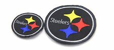 2 X PITTSBURGH STEELERS NFL SEW ON EMBROIDERED PATCH 8 X 8 , 5 X 5 CM #P029