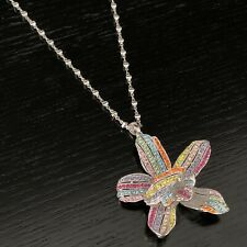 Luxury Statement Multi Crystal Necklace Pendant Made with Swarovski Elements