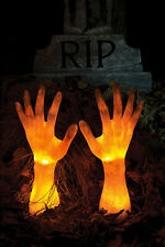 Light Up Ground Grave Breaker Zombie Hands Halloween Lawn Yard Stakes Prop