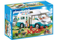 PLAYMOBIL 70088 Family Camper Family Fun Bicycles Grill Camping 2019
