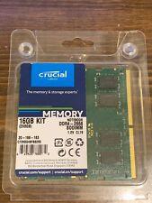 CRUCIAL 16GB Kit (2 x 8GB) DDR4-2666 PC4-21300 260-Pin SO-DIMM Laptop RAM Memory