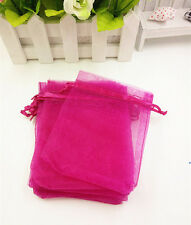 20pcs Organza Gift Bags Wedding Christmas Party  Packaging Pouches gift(rose)