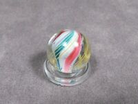 """Antique German Divided Core Swirl Ribbon Marble Vintage 19/32"""""""