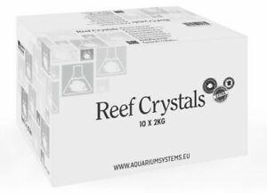 Reef Crystals Marine Reef Salt 4 8 20 & 40kg Packed in 2kg Bags Aquarium Systems