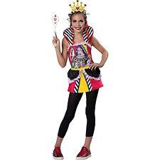 """Queen of Hearts """"Alice in Wonderland"""" Halloween Costume ~ Girls L 10/12 NEW"""