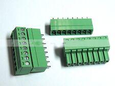 20PCS Screw Terminal Block Connector 3.81mm 8 Pin Way Green Pluggable Type