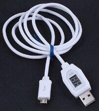 Cable Micro USB con Voltímetro Amperímetro & de carga para teléfono móvil Android 1m