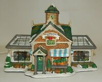 Lemax Carole Towne Christmas Village Lighted Horticulture Greenhouse Building