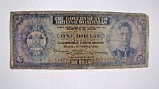 British Honduras One Dollar 15.4.1942 Pick 20 - low grade but rare !