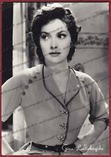 GINA LOLLOBRIGIDA 20 ATTRICE ACTRESS CINEMA MOVIE STAR PEOPLE Cartolina FOTOGR.