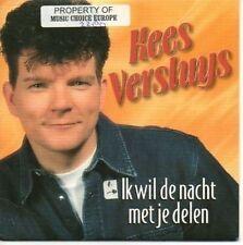 (AN497) Kees Versluys, Ik Wil De Nacht Met Je - 1998 CD