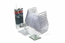 SnoBlox Ace 20pcs Snow Guards & Adhesive Metal Steel r-panel Roof Standing Seam