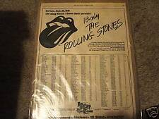 Rolling Stones original '74 King Biscuit Flower Hour Rolling Stone magazine ad