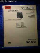 Sony Service Manual SS j70/j75 sistema speaker (#4478)