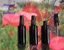 3 Miron Violettglas Flaschen  á 50 ml  mit  Pumpzerstäuber