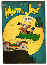 MUTT & JEFF #22 4.5 CREAM TO OFF-WHITE PAGES GOLDEN AGE