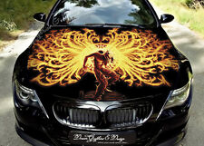 Flame Dragons Hood Full Color Graphics Wrap Decal Vinyl Sticker Fit any Car #144